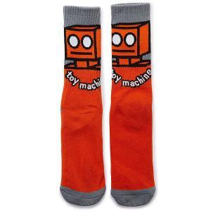 Носки средние  Robot Sock Orange Toy Machine. Цвет: оранжевый,серый