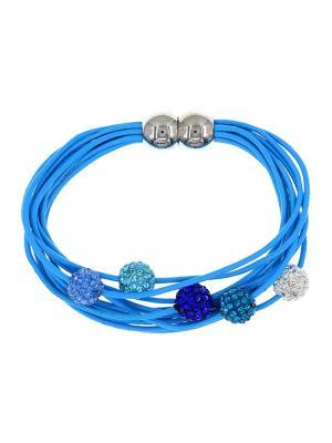 Браслет Only Happy. Цвет: голубой, серебристый, фиолетовый, бирюзовый