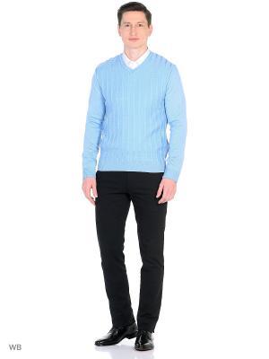 Пуловер DESSO. Цвет: голубой