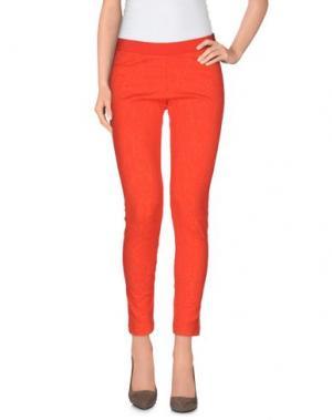 Легинсы VDP COLLECTION. Цвет: оранжевый