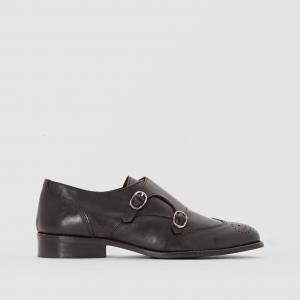 Ботинки-дерби кожаные R essentiel. Цвет: черный