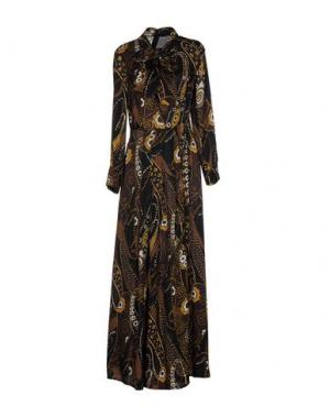 Длинное платье BIANCOGHIACCIO. Цвет: черный
