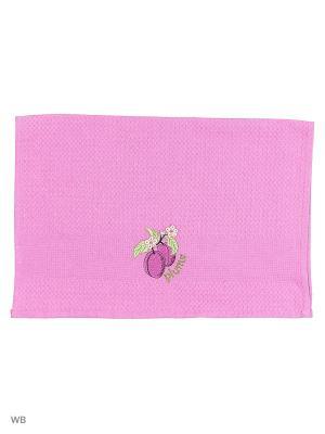 Кухонное полотенце в подарочной коробке ЛЮКС , вафельное 1 шт.40х60 см, 100% хлопок Dorothy's Нome. Цвет: темно-фиолетовый