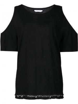 Блузка с вырезами на плечах Derek Lam 10 Crosby. Цвет: чёрный