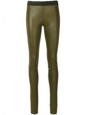 Облегающие брюки Drome. Цвет: зелёный