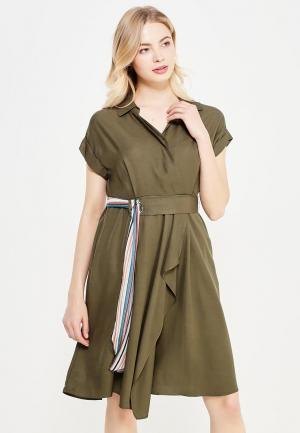 Платье Lusio. Цвет: зеленый