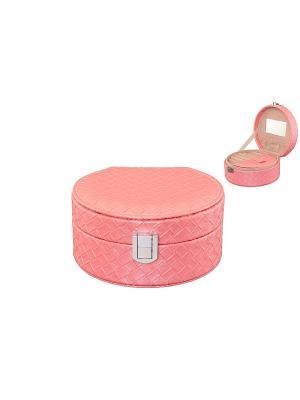 Шкатулка Розовая плетенка Elan Gallery. Цвет: розовый