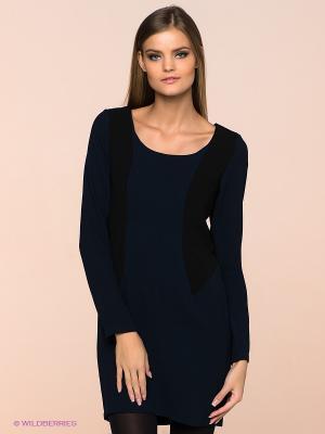 Платье ICHI. Цвет: темно-синий, черный