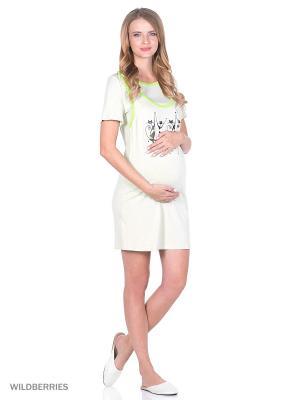 Сорочка EUROMAMA. Цвет: зеленый, светло-зеленый