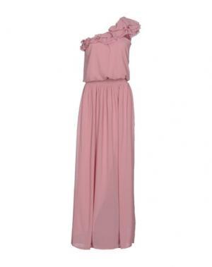 Длинное платье PINKO. Цвет: пастельно-розовый