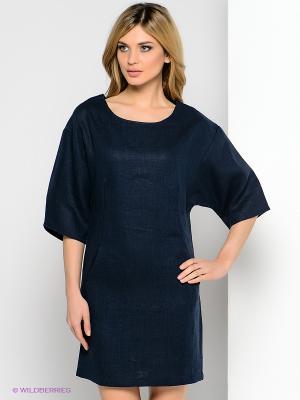 Платье Анна Чапман. Цвет: темно-синий