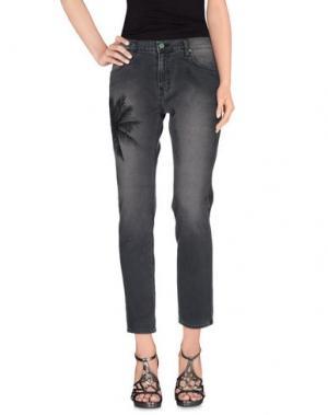 Джинсовые брюки SANDRINE ROSE. Цвет: свинцово-серый