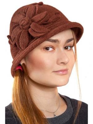Шляпа Three S. Цвет: темно-коричневый