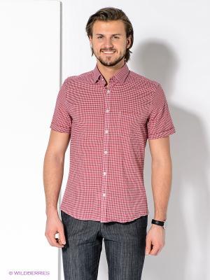 Рубашка MONDIGO. Цвет: красный, белый