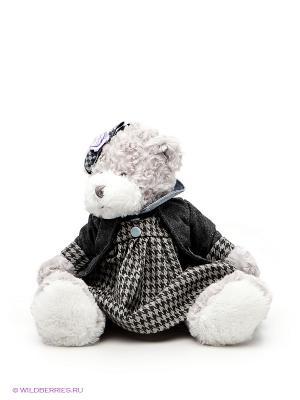 Игрушка Мишка Белла MAXITOYS. Цвет: светло-серый, белый