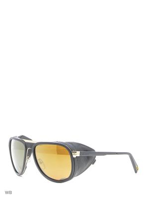 Солнцезащитные очки VL 1315 0008 PURE BROWN Vuarnet. Цвет: черный