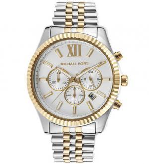 Часы с металлическим браслетом и хронографом Michael Kors