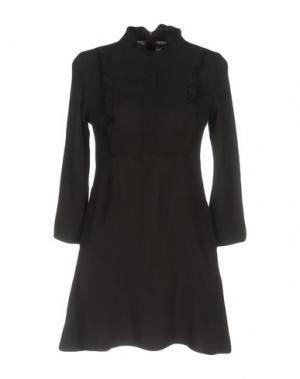 Короткое платье PINK MEMORIES. Цвет: темно-коричневый