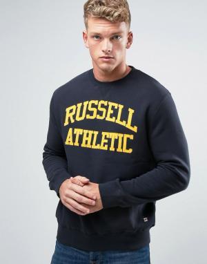 Russell Athletic Свитшот с принтом логотипа. Цвет: темно-синий