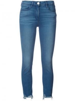 Узкие укороченные джинсы 3X1. Цвет: синий