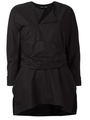 Блузка с поясом Proenza Schouler. Цвет: чёрный