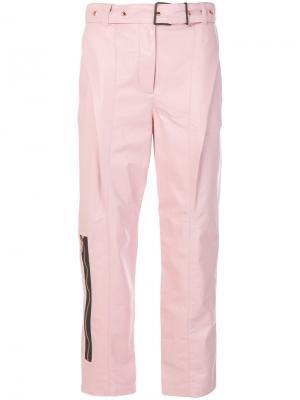 Leather Belted Straight Pant Proenza Schouler. Цвет: розовый и фиолетовый