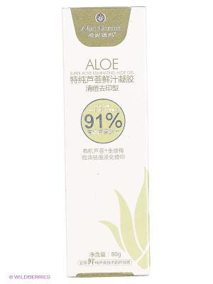 Гель для жирной и смешанной кожи предотвращающий акне Aloe Derma. Цвет: прозрачный