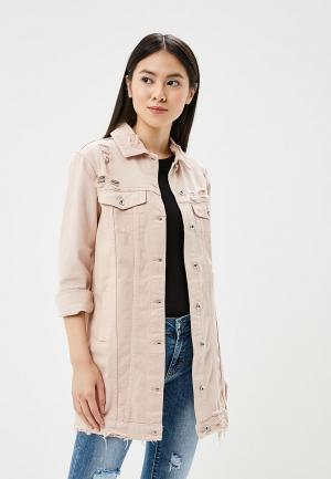 Куртка джинсовая Miss Bon. Цвет: розовый