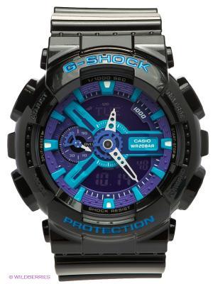 Часы G-SHOCK GA-110HC-1A CASIO. Цвет: фиолетовый, черный