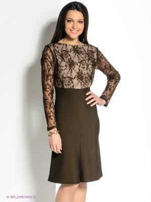 Платье SUGARLIFE. Цвет: коричневый