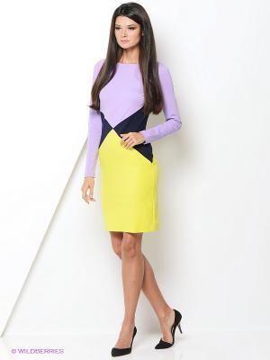 Платье Hammond. Цвет: сиреневый, желтый