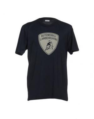 Футболка AUTOMOBILI LAMBORGHINI. Цвет: темно-синий