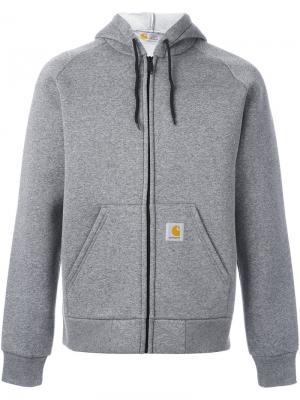 Куртка с капюшоном Carhartt. Цвет: серый