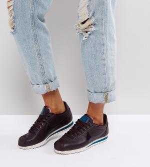 Nike Фиолетовые кроссовки Beautiful X Power Cortez. Цвет: черный