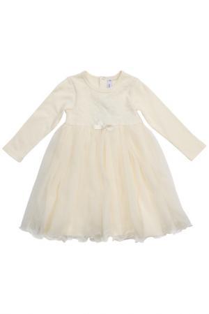 Платье PlayToday. Цвет: бежевый