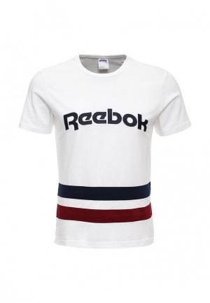 Футболка Reebok Classics. Цвет: белый