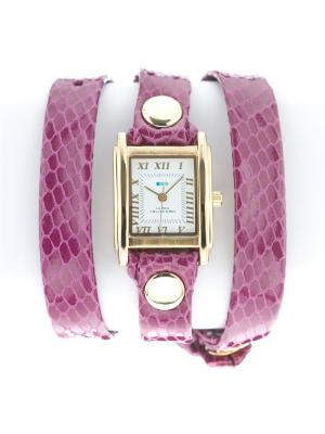 Часы La Mer Collections Simple Magenta snake. Цвет: розовый
