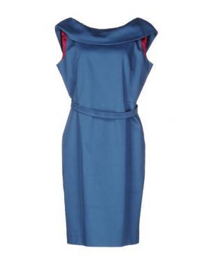 Платье до колена IVAN MONTESI. Цвет: пастельно-синий