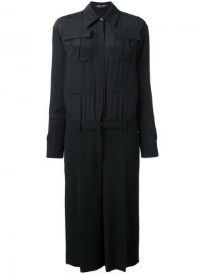 Платье-рубашка Rochas. Цвет: чёрный