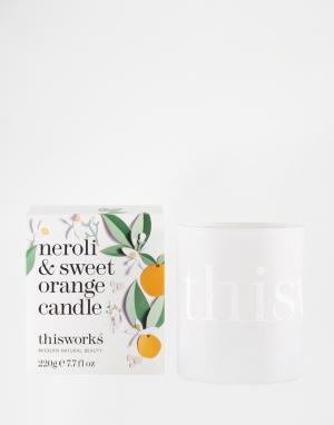 This works Свеча с ароматом нероли и сладкого апельсина 220 г. Цвет: бесцветный