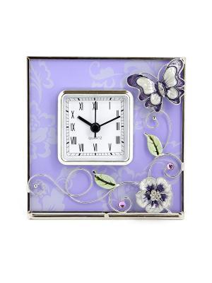 Часы  Сиреневая фантазия квадратные JARDIN D'ETE. Цвет: сиреневый, белый