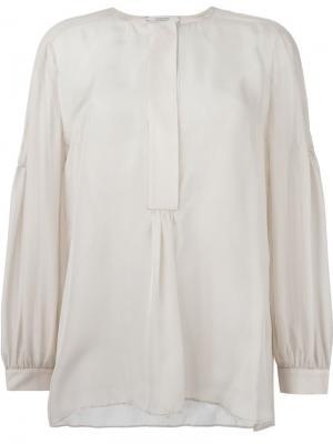 Плиссированная блузка Dorothee Schumacher. Цвет: телесный