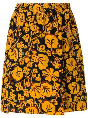 Мини-юбка Floral Leaf Kenzo. Цвет: чёрный