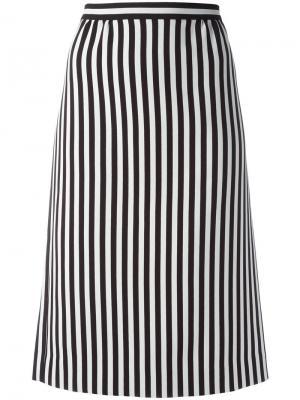 Полосатая юбка А-силуэта Marc Jacobs. Цвет: чёрный