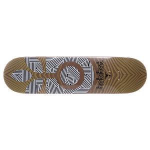 Дека для скейтборда  S5 Medium Terra Form 32 x 8.125 (20.6 см) Habitat. Цвет: бежевый,коричневый,черный,белый