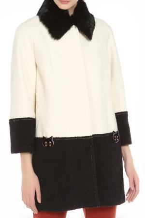 Пальто 22MAGGIO. Цвет: черный, белый