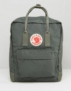 Fjallraven Зеленый рюкзак объемом 16 литров Kanken. Цвет: зеленый