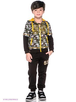 Спортивный костюм Oldos. Цвет: темно-коричневый, серый, зеленый