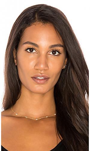 Ожерелье с бриллиантами Sachi. Цвет: металлический золотой