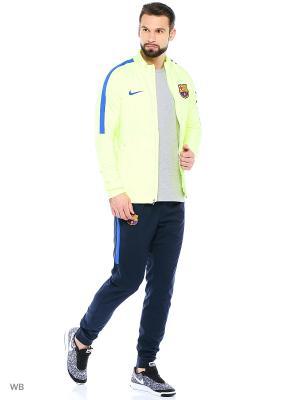 Спортивный костюм FCB M NK DRY SQD TRK SUIT W Nike. Цвет: зеленый
